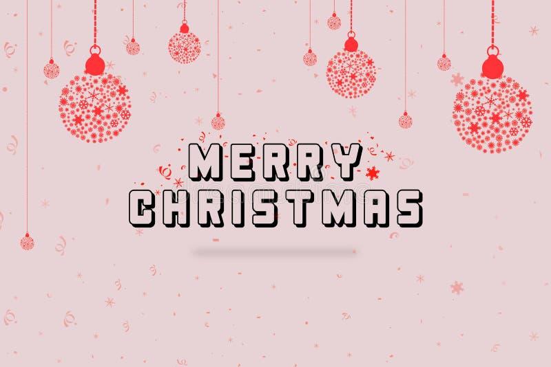 Weihnachtskugel gebildet von den Schneeflocken Weihnachtsfestfeiergruß-Kartendesign vektor abbildung