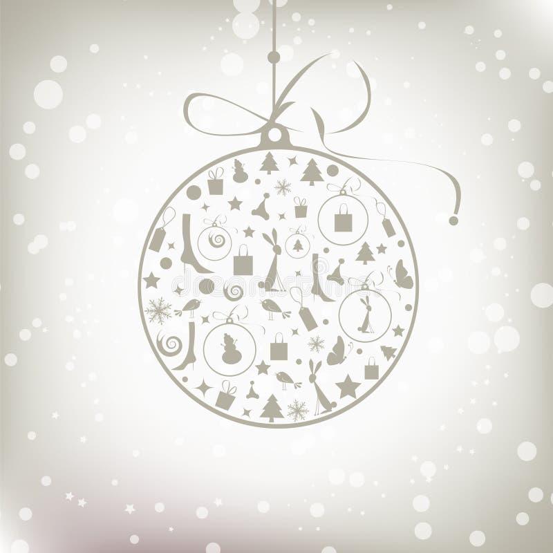 Weihnachtskugel golden für Ihre Auslegung stock abbildung