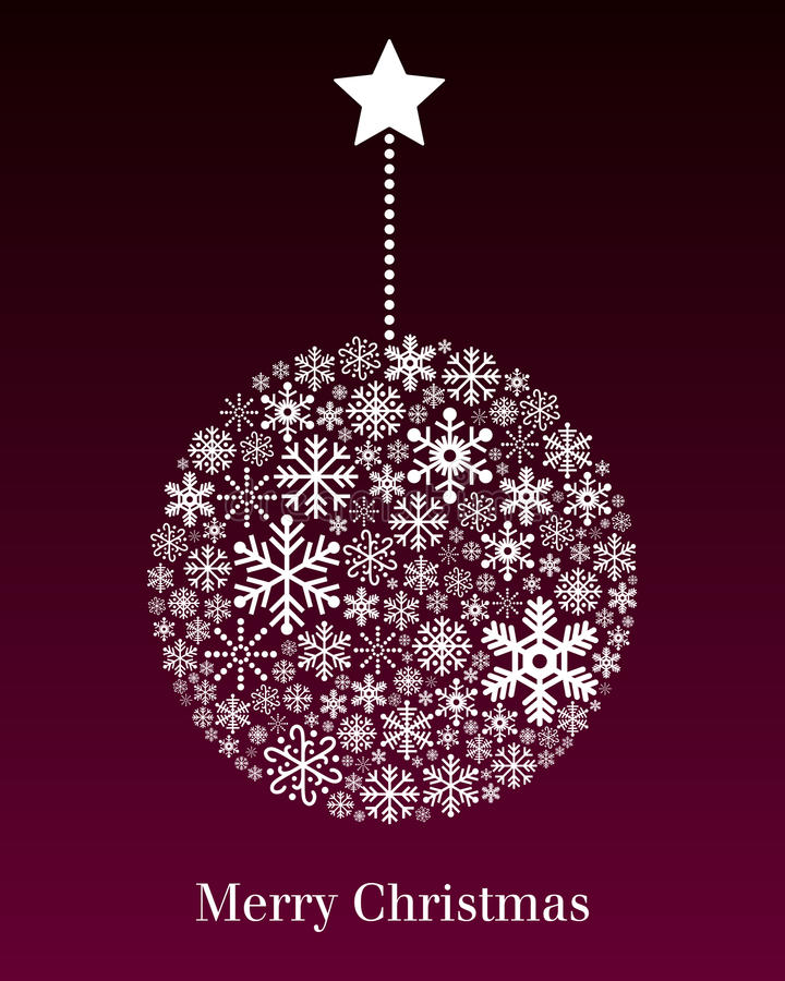 Weihnachtskugel-Gruß-Karte lizenzfreie abbildung