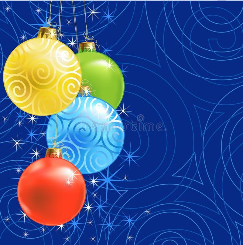 Weihnachtskugel/-hintergrund lizenzfreie abbildung