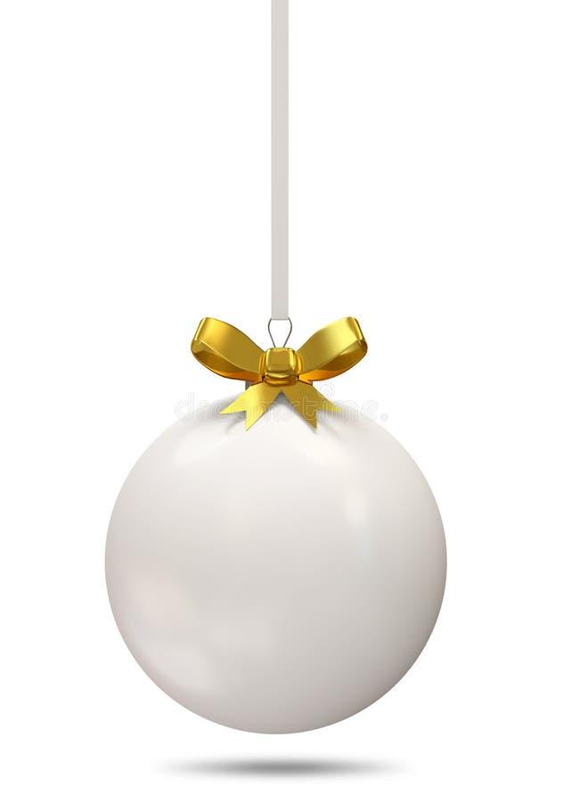Weihnachtskugel mit goldenem Bogen lizenzfreie abbildung