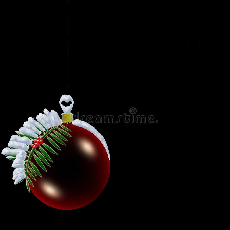 Weihnachtskugel mit Schnee vektor abbildung