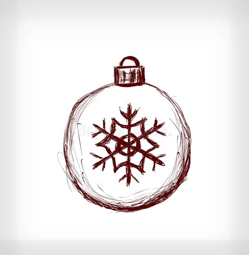 weihnachtskugel mit schneeflocke vektor abbildung bild 47097994. Black Bedroom Furniture Sets. Home Design Ideas