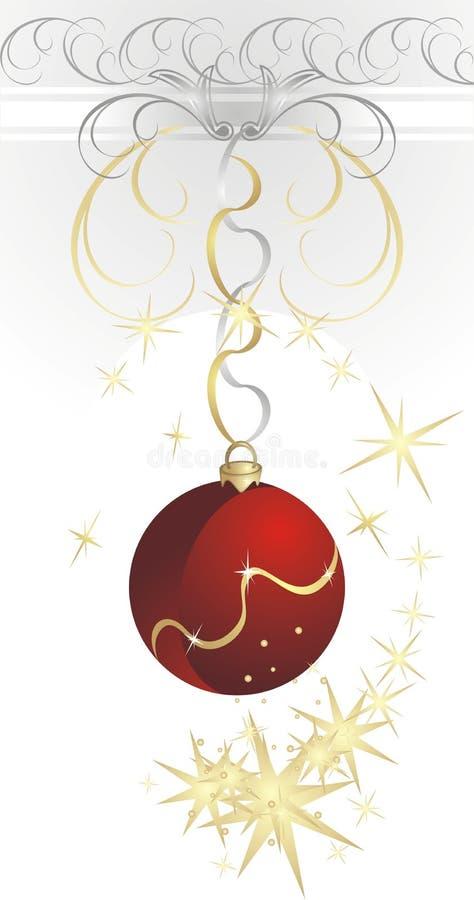 Weihnachtskugel mit Strudel der Sterne lizenzfreie abbildung