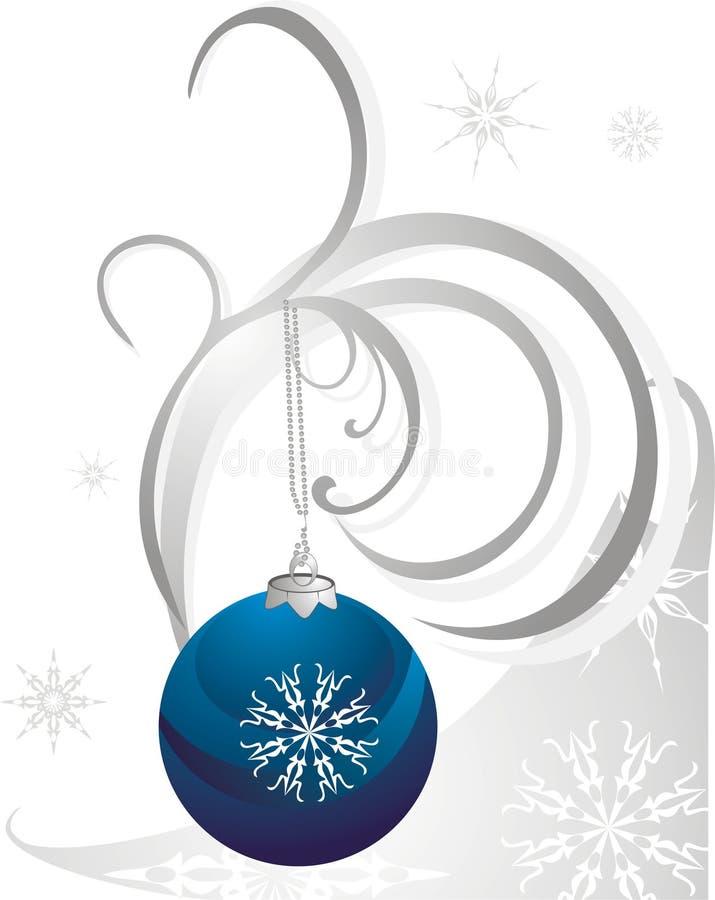 Weihnachtskugel und -schneeflocken lizenzfreie abbildung