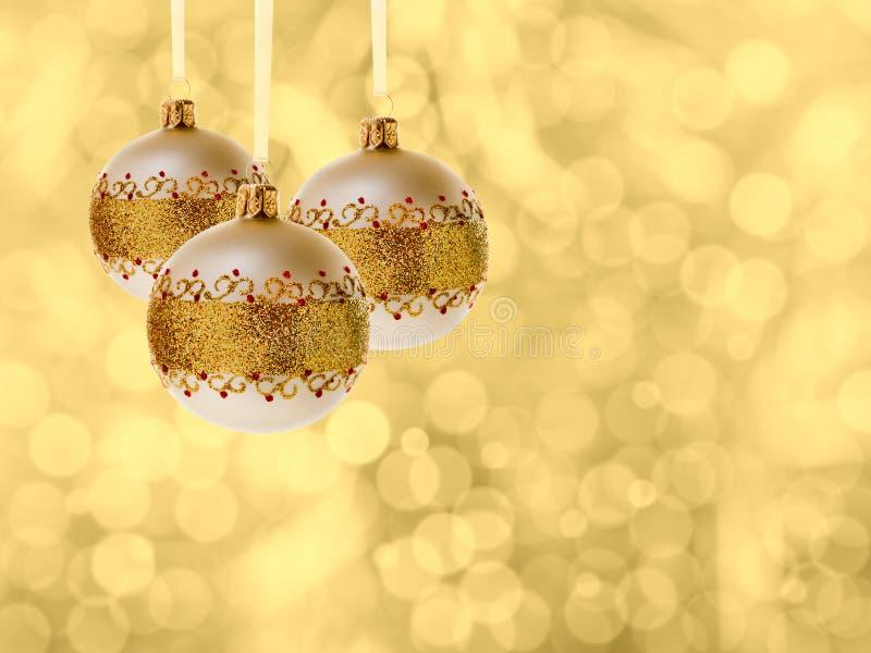 Weihnachtskugeldekoration lizenzfreie stockfotos