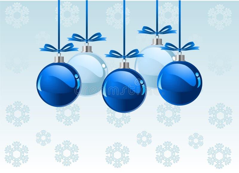 Weihnachtskugelhintergrund lizenzfreie abbildung
