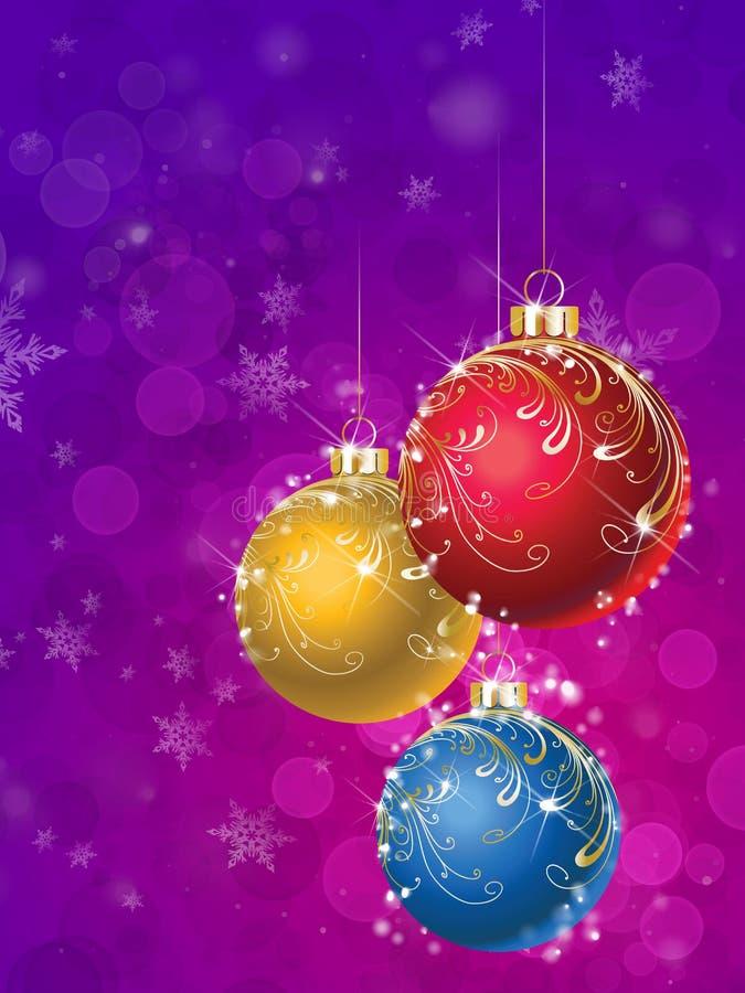 Download Weihnachtskugeln stock abbildung. Illustration von schneeflocken - 12201485