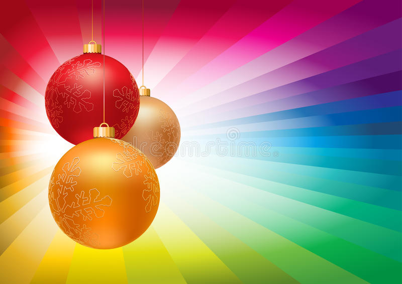 Weihnachtskugeln lizenzfreie abbildung