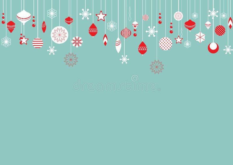 Weihnachtskugeln stock abbildung