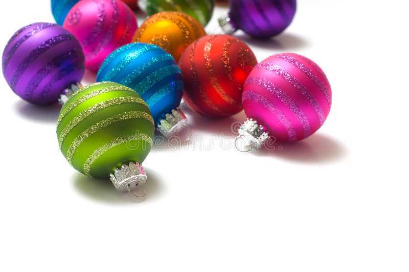 Weihnachtskugeln stockbilder