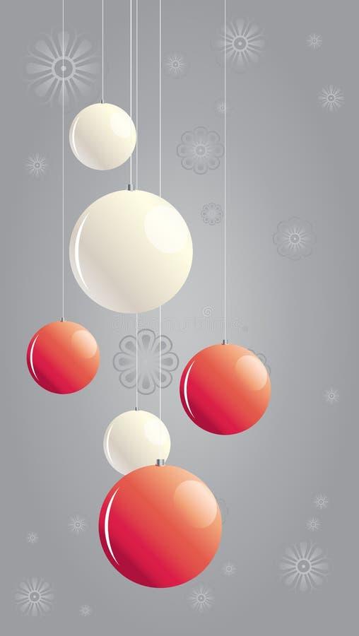 Weihnachtskugeln I stock abbildung