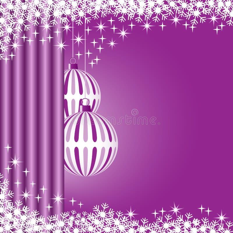 Weihnachtskugeln purpurrot lizenzfreie abbildung