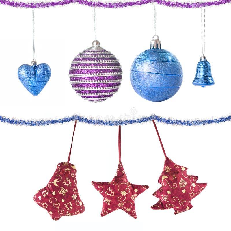 Weihnachtskugeln und -dekoration stockbilder