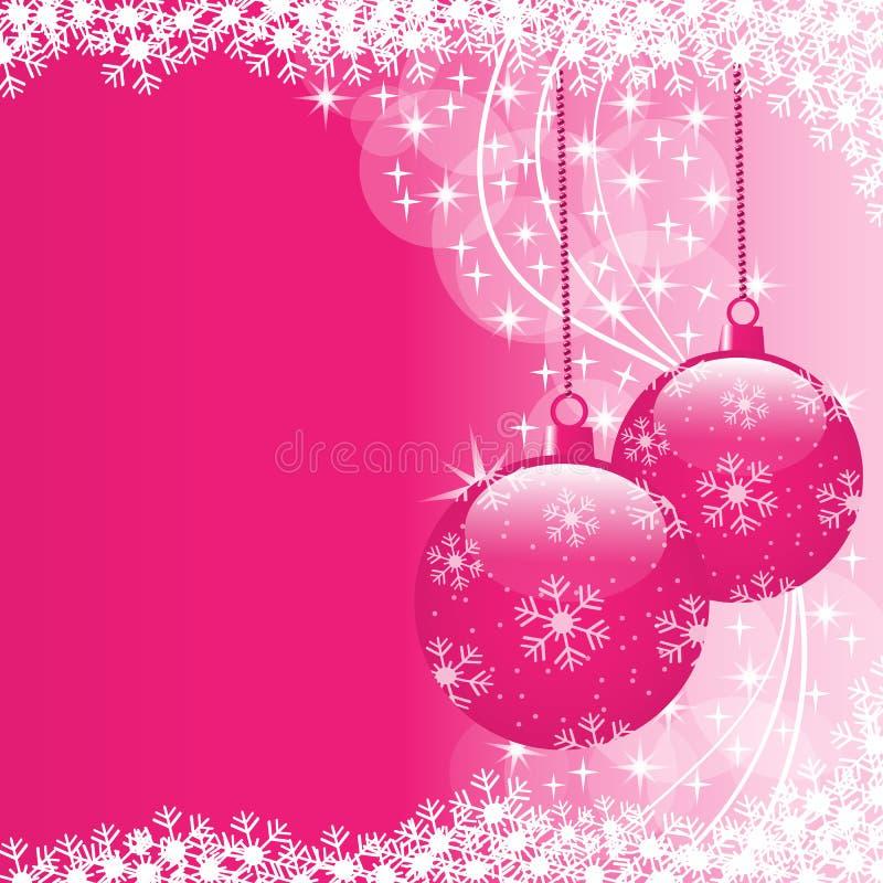 Weihnachtskugelrosa lizenzfreie abbildung