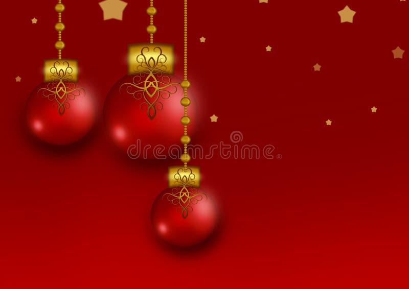 Weihnachtskugelverzierungsillustrationen lizenzfreie abbildung