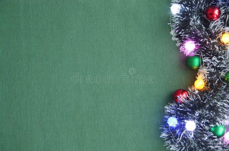 Weihnachtslametta, Girlande 2018 lizenzfreies stockfoto