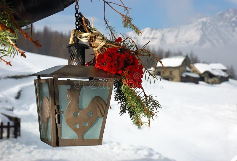Weihnachtslampe lizenzfreies stockfoto