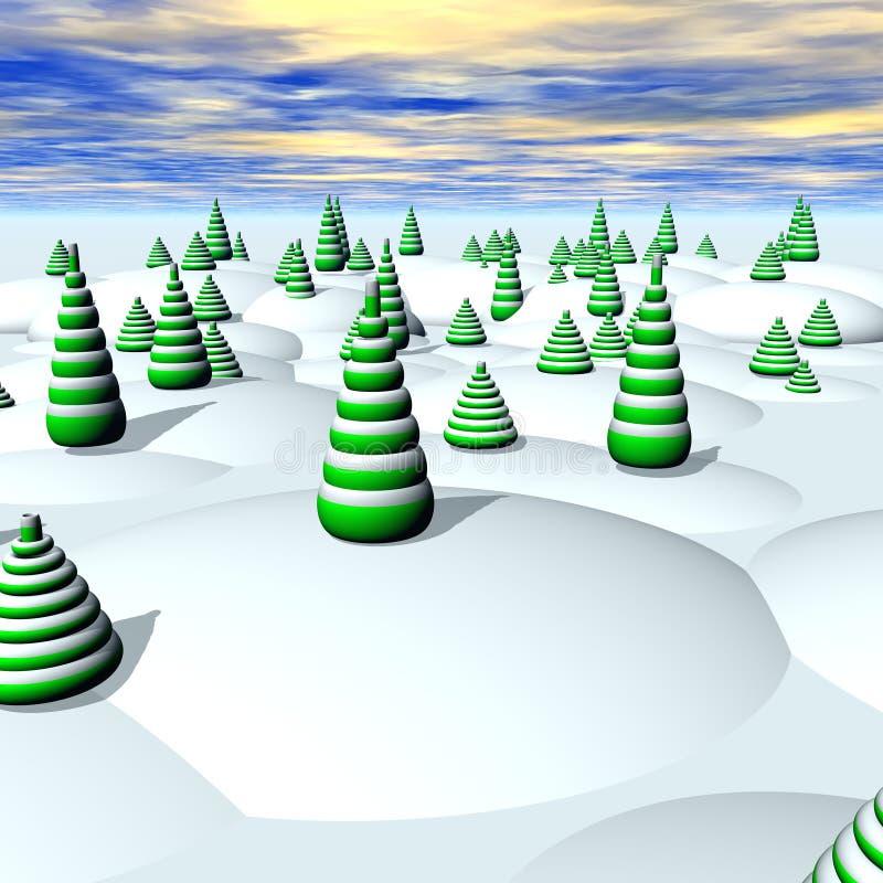 Weihnachtsland stock abbildung