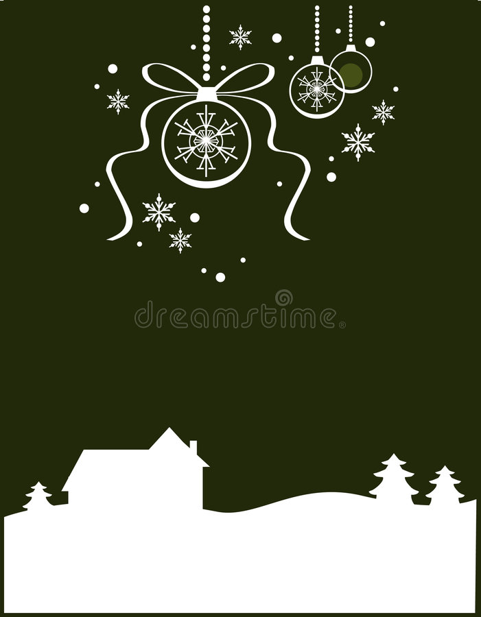 Weihnachtslandschaft (ii) stock abbildung