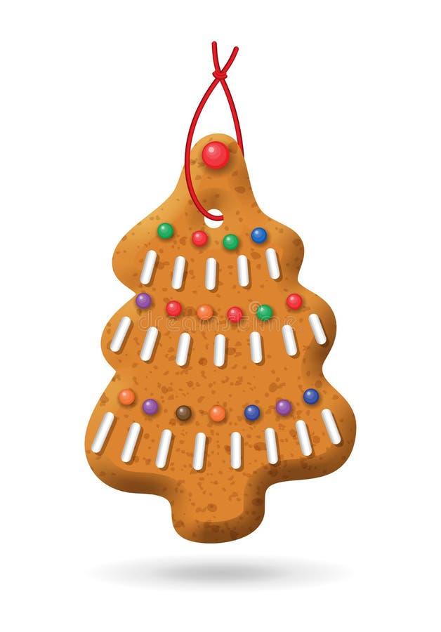 Weihnachtslebkuchen-Ikone stock abbildung