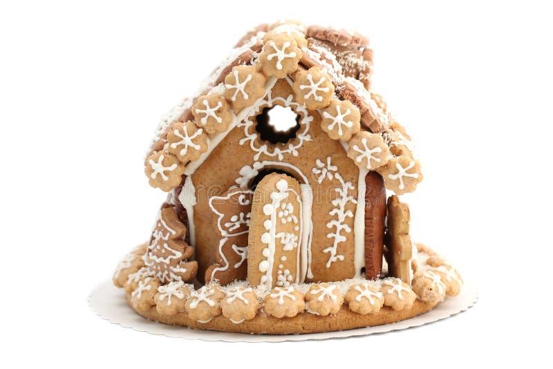 Weihnachtslebkuchenhaus lizenzfreie stockbilder