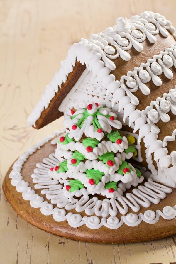 Weihnachtslebkuchenhaus stockfotografie