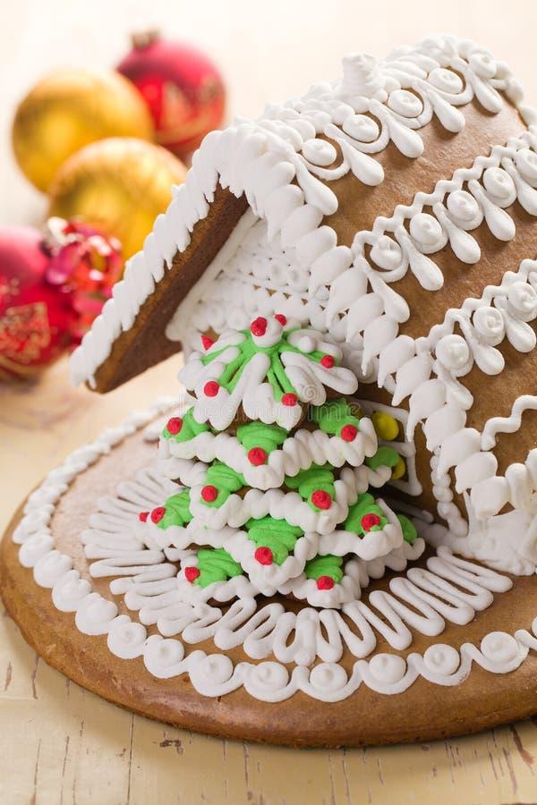 Weihnachtslebkuchenhaus lizenzfreie stockfotografie