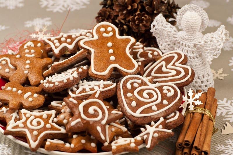 Weihnachtslebkuchenplätzchen lizenzfreies stockfoto
