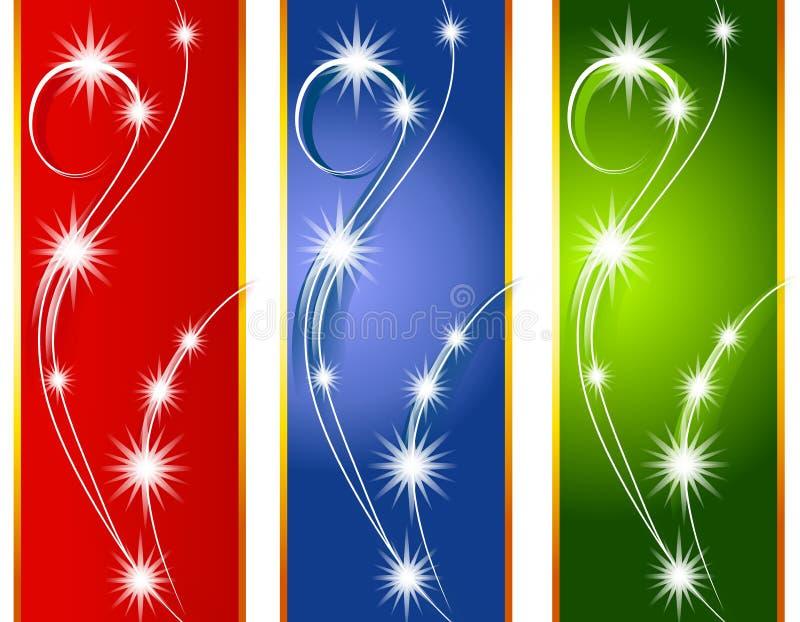 Weihnachtsleuchte-Hintergrund-Ränder vektor abbildung