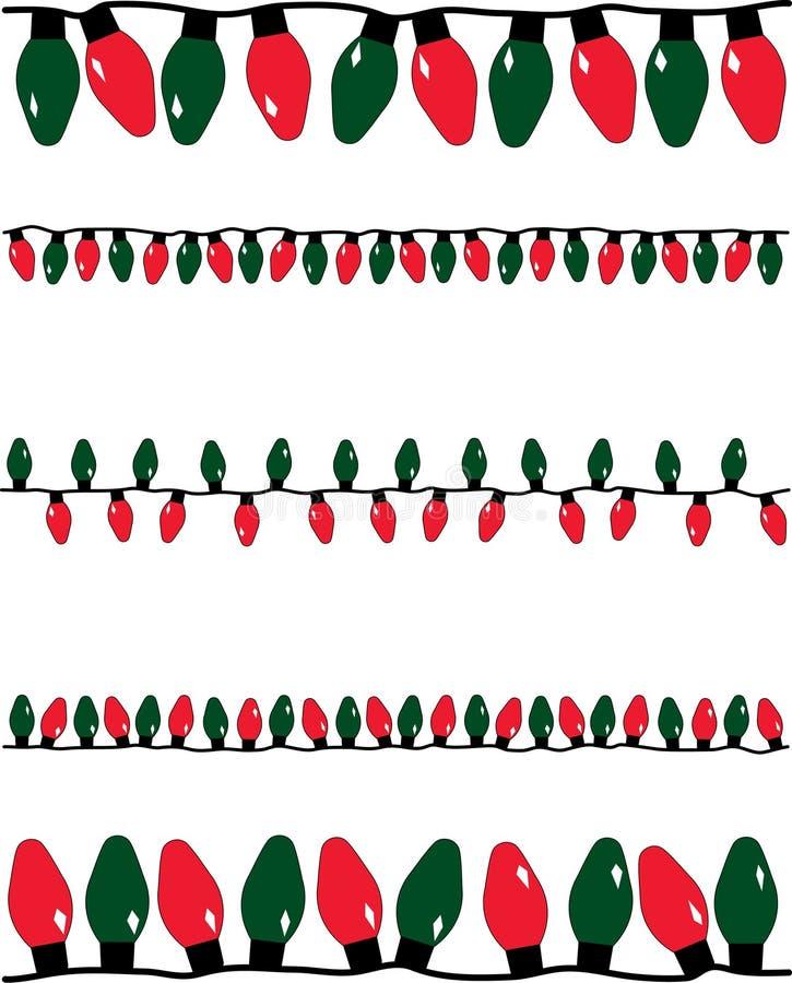 Weihnachtsleuchten stock abbildung