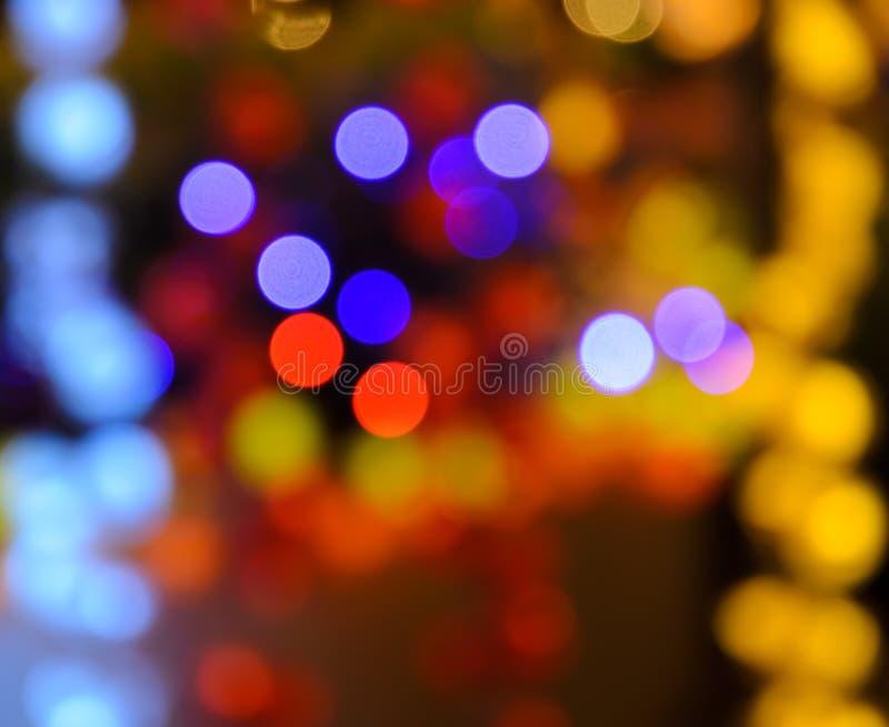 Weihnachtsleuchten bokeh Hintergrund lizenzfreie stockbilder