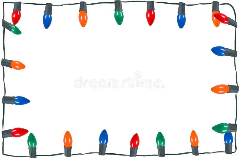 Weihnachtsleuchten getrennt stockfotografie