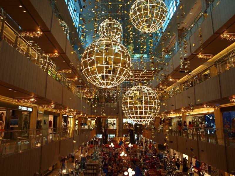 Weihnachtsleuchten am Mall lizenzfreies stockfoto