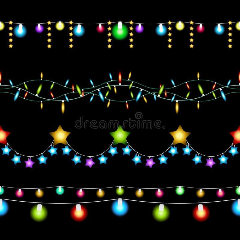 Weihnachtslichtmuster vektor abbildung