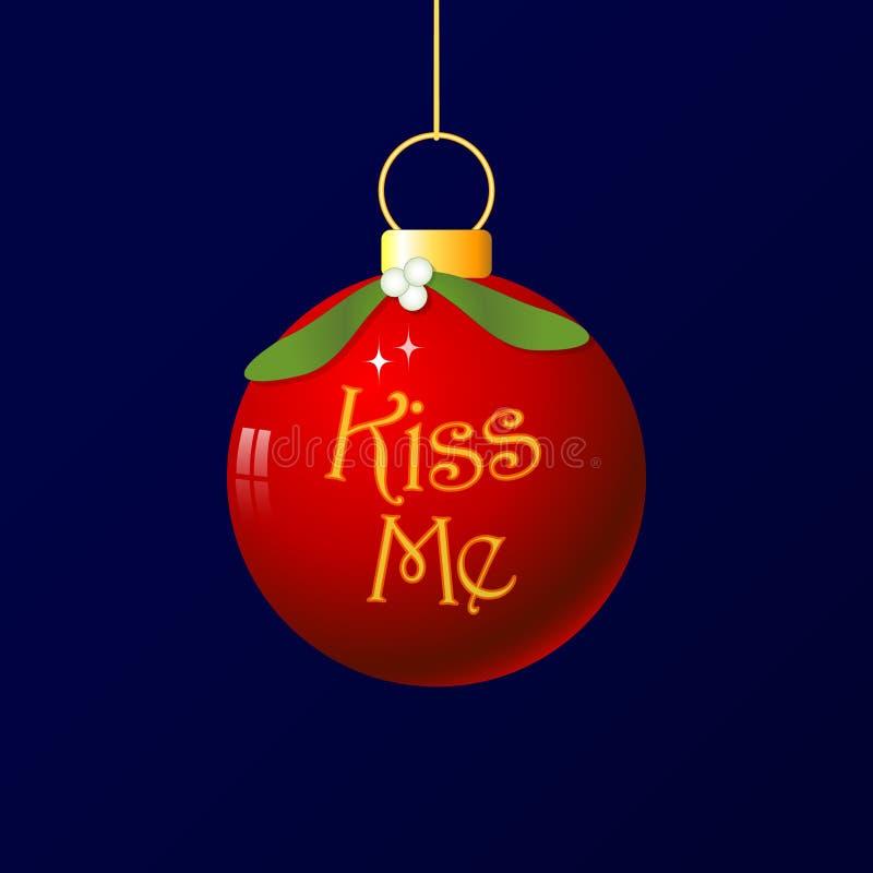 Weihnachtsliebe - küssen Sie mich lizenzfreie abbildung