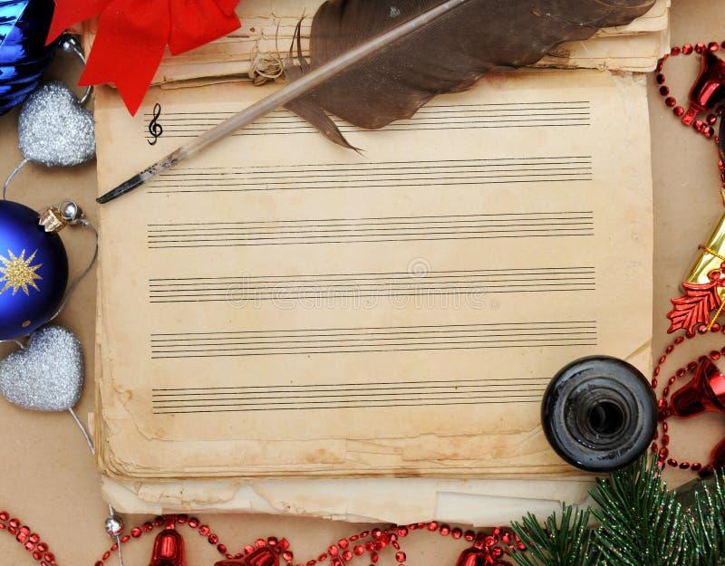 Weihnachtslied lizenzfreie stockfotos