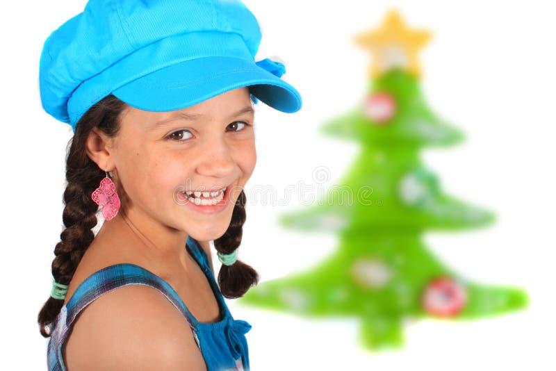 Weihnachtsmädchen lizenzfreies stockfoto