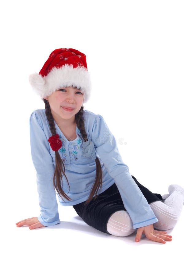 Weihnachtsmädchen stockbilder