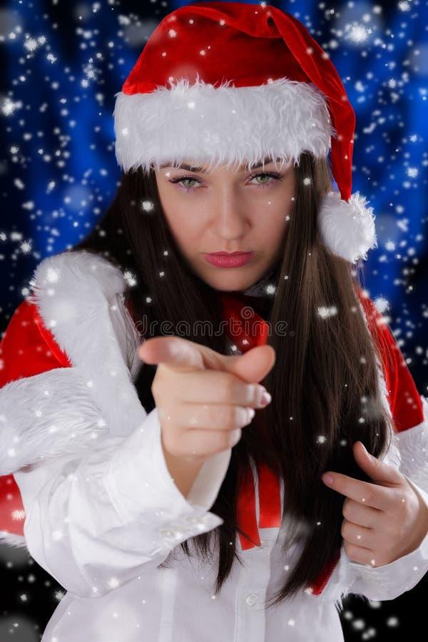 Weihnachtsmädchen-Zeigen lizenzfreie stockbilder