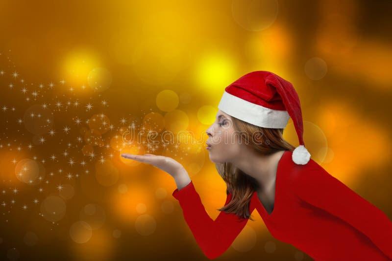 Weihnachtsmädchenschlag stockfotos