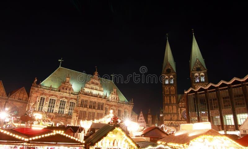 Weihnachtsm?rkt (mercado do Natal) em Brema imagens de stock royalty free