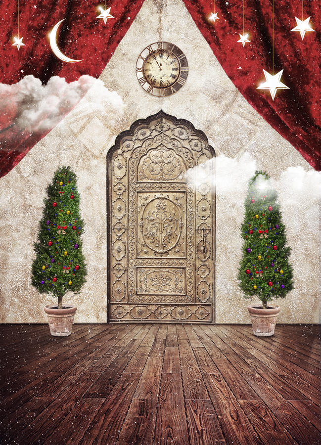 Weihnachtsmagischer Vorabend lizenzfreie stockbilder