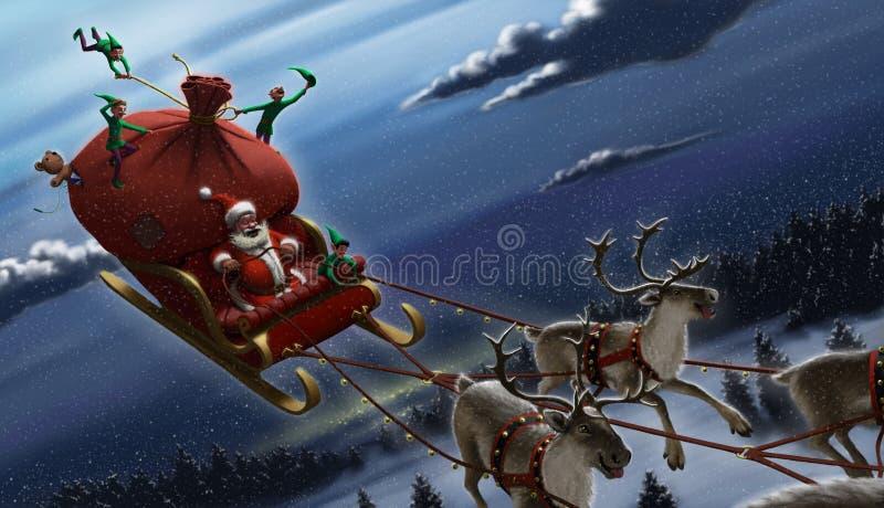 Weihnachtsmann _2 lizenzfreie abbildung