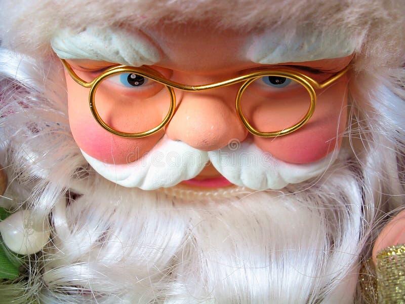 Weihnachtsmann in aller Art Stimmungen lizenzfreie stockfotos
