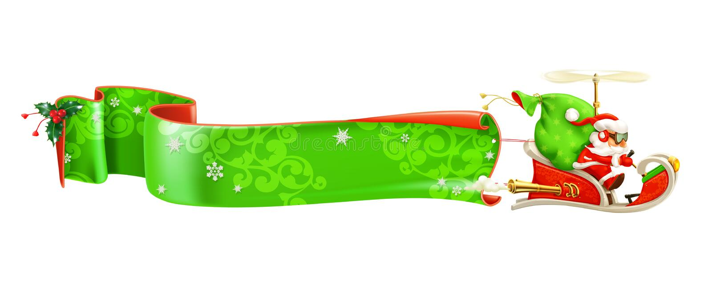 Weihnachtsmann auf Schlitten lizenzfreie abbildung