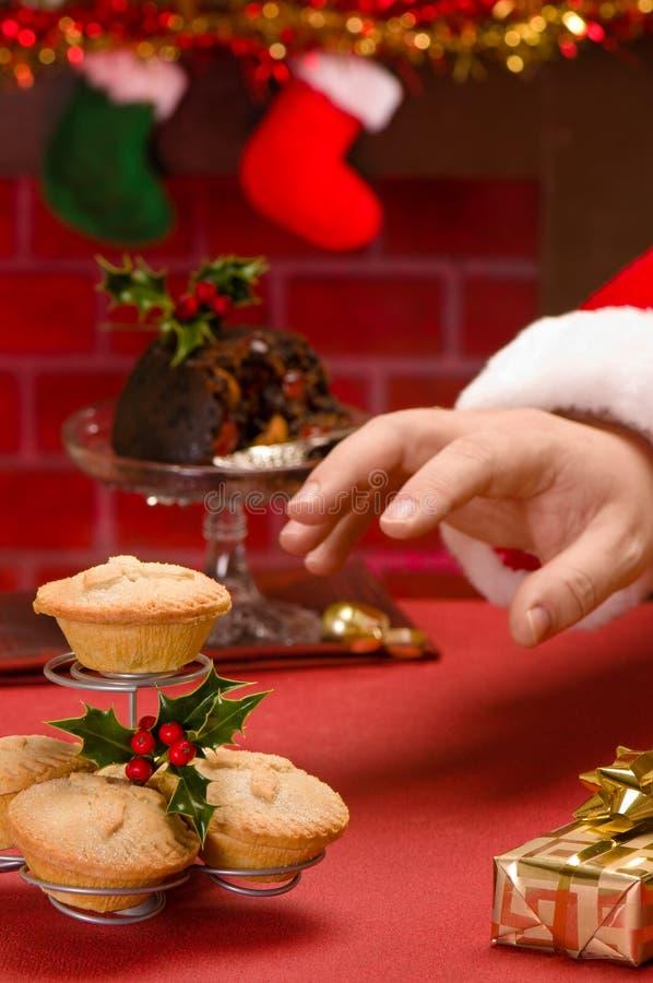 Weihnachtsmann auf Weihnachtsabend stockfoto