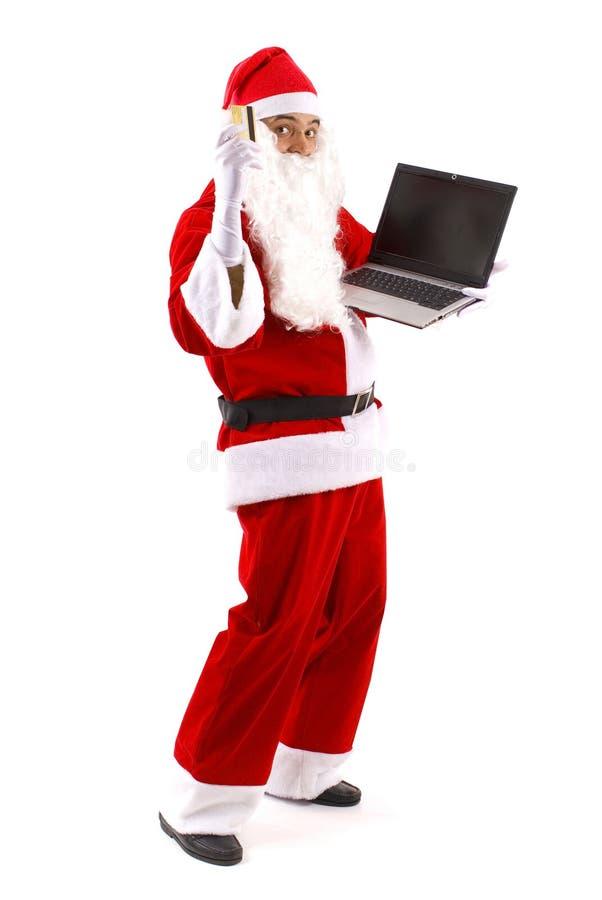 Weihnachtsmann-Einkaufen stockfotos