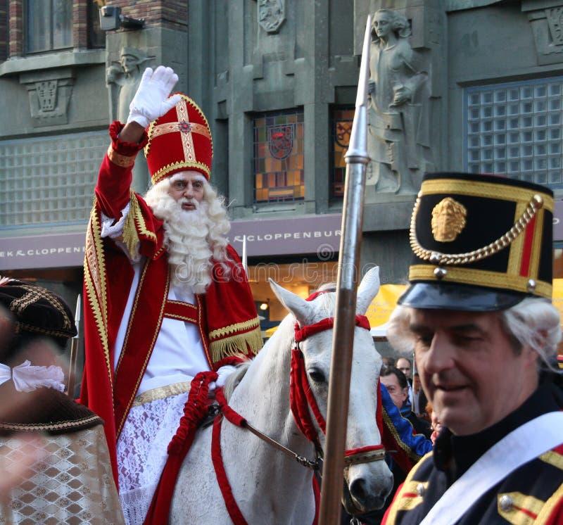 Weihnachtsmann-Festival in Holland lizenzfreie stockfotos