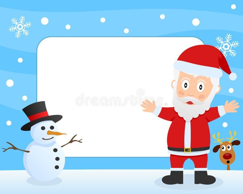 Weihnachtsmann-Foto-Feld lizenzfreie abbildung